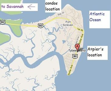We are located on the north side of Tybee Island, a short drive to Tybee pier