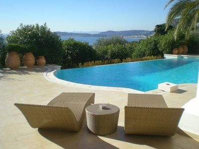Cap-d'Ail villa rental - Heated pooll with view on Cap F