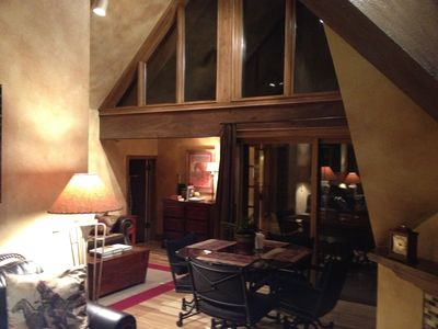 The Lodge at Mountain Village condo rental - Night view from within condo...
