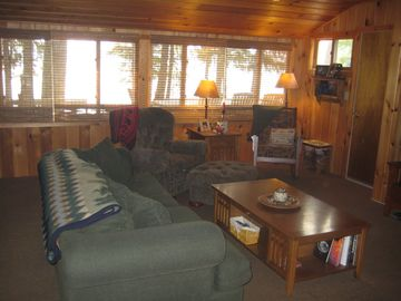 Other side of living room facing the lake.