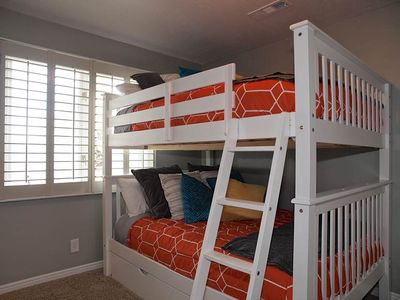 4th Bedroom with Full over Full Bunk Beds with Twin Trundle