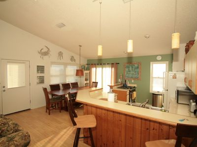 Check out the Beach and Ocean Views from the Dining Area AND the Kitchen..