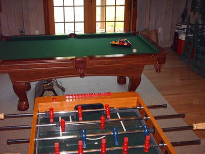 Foosball and Pool available (the dry kind)