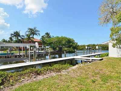 90 FOOT dock on left/ canal side of property.Great for fishing or seeing fish