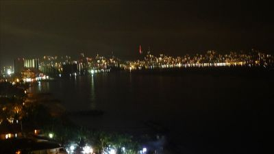 Los Muertos condo rental - night time view