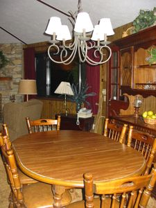 Hendersonville cottage rental - Dining Area - Upper Level