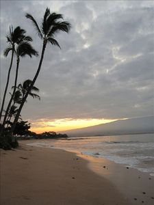 Evenings are lovely in Hawaii.