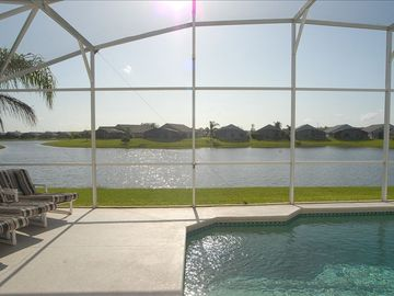 Eagle Pointe villa rental - View from the pool decking