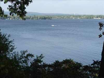Spectacular view of Lake Wisconsin from the deck of the LakeHouse.