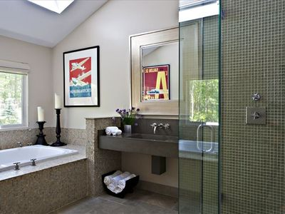 Master Bath (with large walk-in shower and two-man jacuzzi tub)