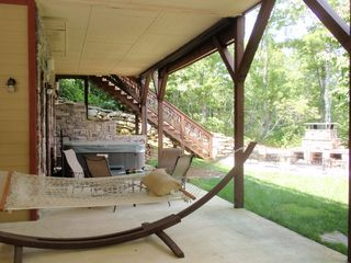Lake Toxaway house photo - Covered lower outdoor area!