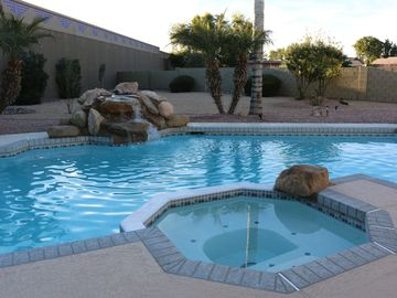 Chandler house rental - Heated pool and spa, with huge private back yard