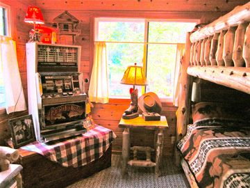 Cowboy Stampede Bunk House , Get first dibs so you can take those boots off!