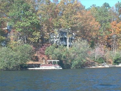Home is right on the lake with beautiful views and large deck