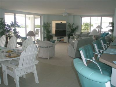 Tv's and DVD's in all. Sleeps 9-11. Waterfront views & balcony from every rm.