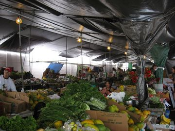 Explore the local farmers' market.