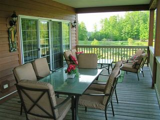 Bellaire / Shanty Creek condo photo - Back deck with new furniture!