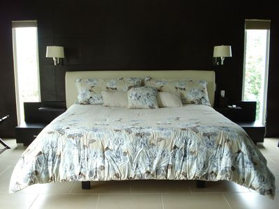 Isla Mujeres house rental - Master Bedroom with King size bed.