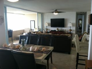Luquillo condo photo - Open layout of dining room, living room area