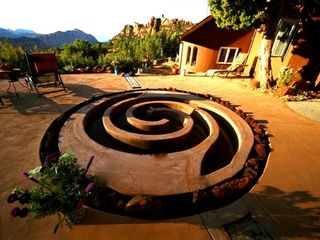 Virgin - Zion National Park estate photo - South Patio - Water Labyrinth and Fire Ring