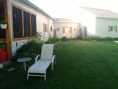Side view of yard & home.