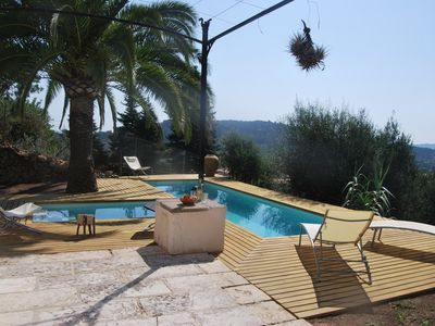 Modern house with spectacular views, private pool. 20 minutes from the beach
