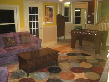 Family Room/Game Room Ground Level with view of Mt Snow
