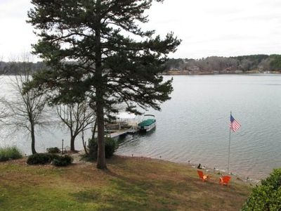 Seneca house rental - Boat dock with 6 lounge chairs for enjoying the lake for the day