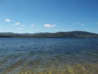 Newfound Lake cottage photo - Breath taking view of lake from front of cottage looking over to Mt Cardigan.