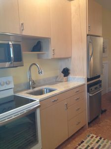 Saugatuck / Douglas apartment rental - Efficiently complete kitchen with all appliances, custom maple cabinets.