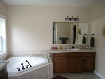 Everything is large in this house including the Master Bath