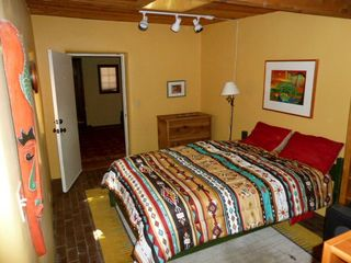 Santa Fe house photo - Studio bedroom. Has skylight and private bathroom.