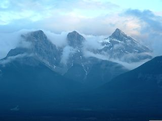 Canmore house photo - Three Sisters Mtn as seen from Lodge