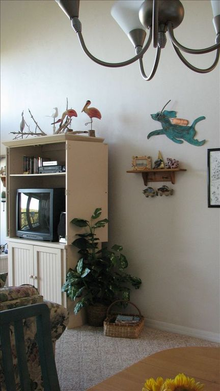 "Partial view of great room, with everyone's favorite ""Scuba Dog&..."