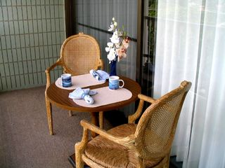 Lahaina condo photo - enjoy breakfast on the lanai