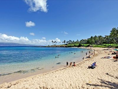 "Kapalua Beach-""Worlds Best"" by Conde Neste Readers Just Steps Away"