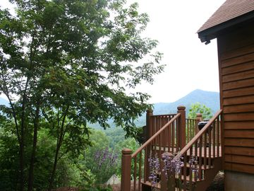 Bryson City cabin rental - You would not BELIEVE the view from this deck! Awesome!