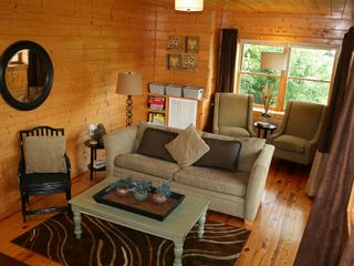 Pigeon Forge cabin photo - Media room with 50 inch plasma TV, gaming system, and DVD player.