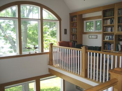 Reading nook, balcony library