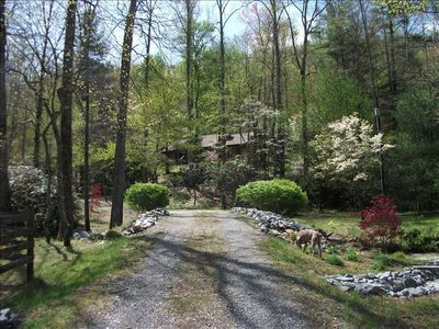Approach to Crab Creek House in Springtime