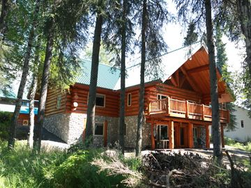 Soldotna lodge rental - Catch of the Kenai Back view of Lodge. Luxury custom Lodge.