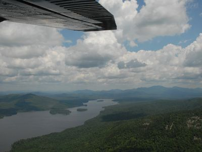 Long Lake house rental - View of Long Lake from scenic sea plane ride (available in town)