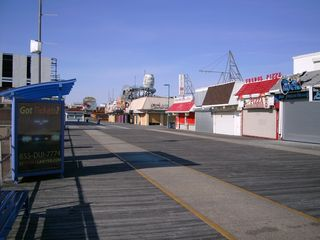 North Wildwood condo photo - Boardwalk, 50 steps from condo