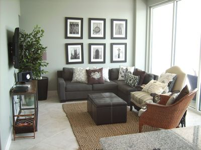 Living Room with Flat Screen TV and DVD