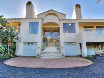 Montecito house rental - Exterior Front - This house is truly palatial.