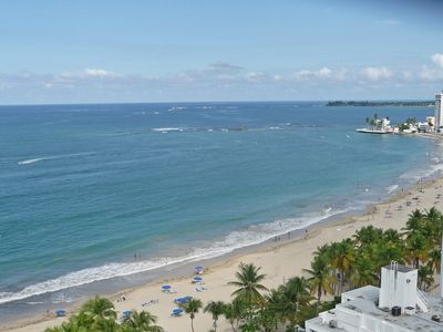 View from the balcony, Isla Verde Beach at your feet.
