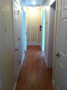 Hallway - general style same throughout house: 100% new and up to Date!