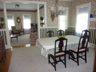 Owls Head house photo - Comfortable and Charming Dining Area with Living Room behind