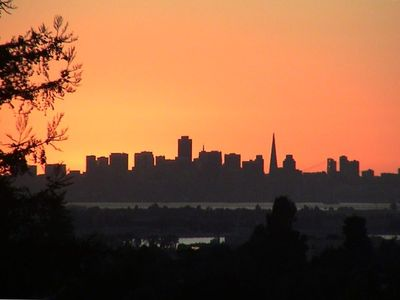 View of the San Francisco Skyline from the deck