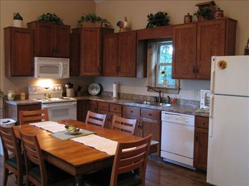 Amish-built cabinets and all new appliances